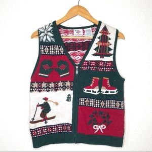 Nutcracker Ugly Sweater Christmas Vest  Sz Small